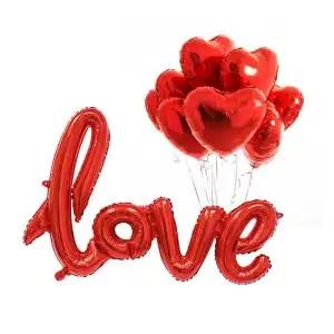 palloncino love rosso