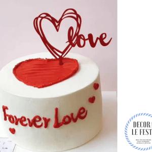 decorazione torta san valentino