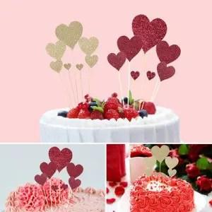 decorazione torta cuori