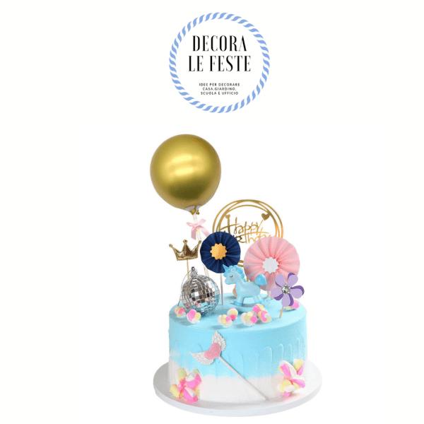 decorazione torta oro