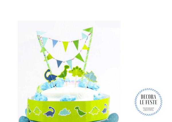 decorazione torta dinosauri