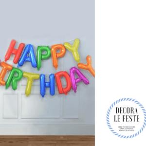 palloncino lettere buon compleanno