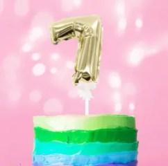 palloncino torta numero