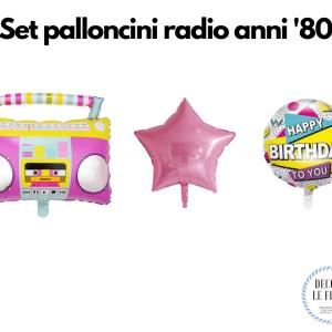 set palloncini festa anni 80