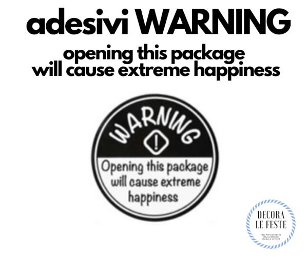 adesivi warning