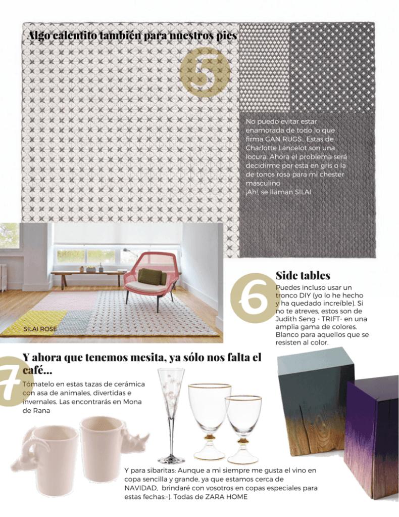 Salón ideal con alfombras y complementos perfectos