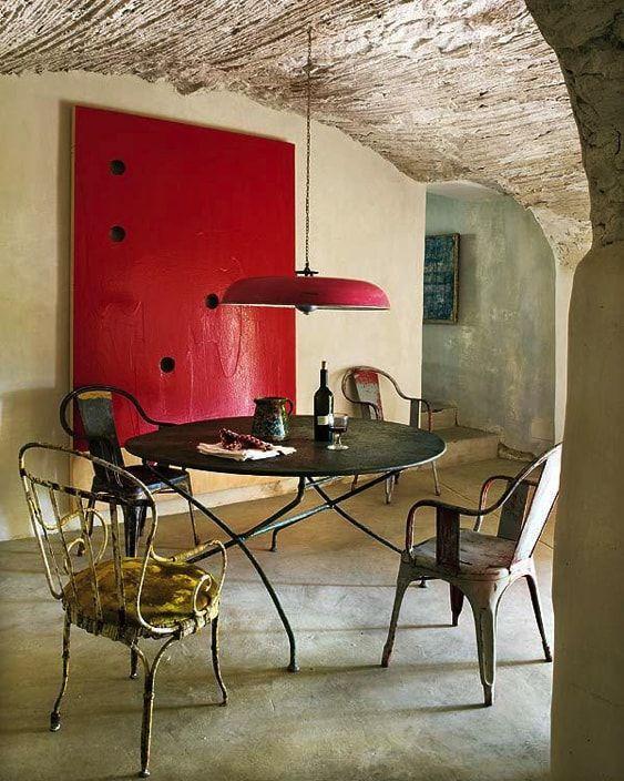 mesa redonda de jardin para interior