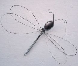 8. Dragonfly made with a spoon and a whisk