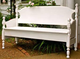 15. Headboard bench