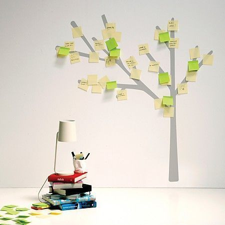 Vinilo de árbol con post-its