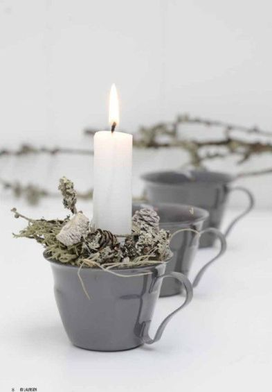 Velas de Navidad - Christmas candles on cups