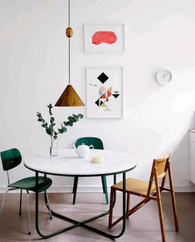 Casa en Copenhagen - cocina mesa redonda
