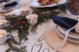 Detalles de la mesa de navidad