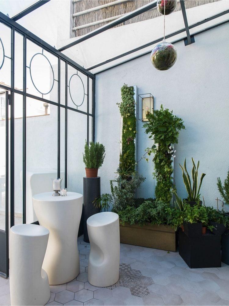 Invernadero en el showroom de Xavier Martin
