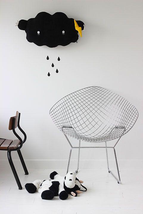 Réplica bertoia para hacer silla de peluches