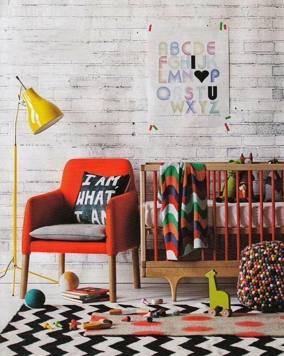 Alfombras geométricas en habitaciones infantiles