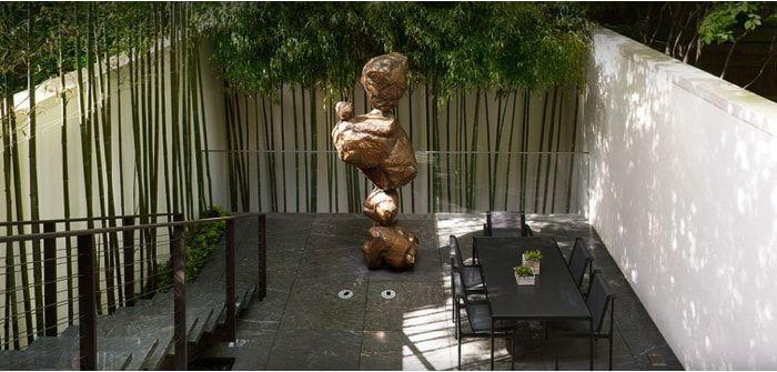 jardin zen con bambu