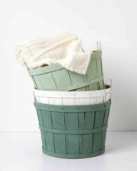 cestas actualizadas con pintura a la tiza