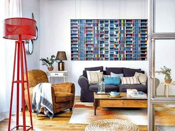 Loft de autor con muebles industriales