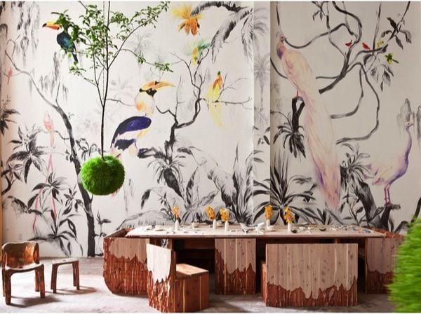 mural tropical para renovar paredes