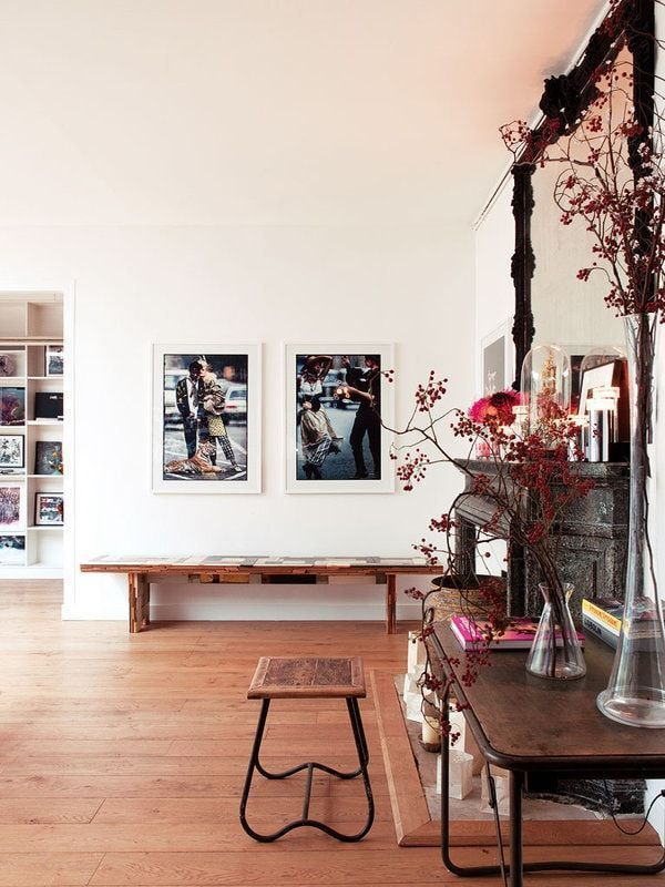 Photographs give a modern look to your home