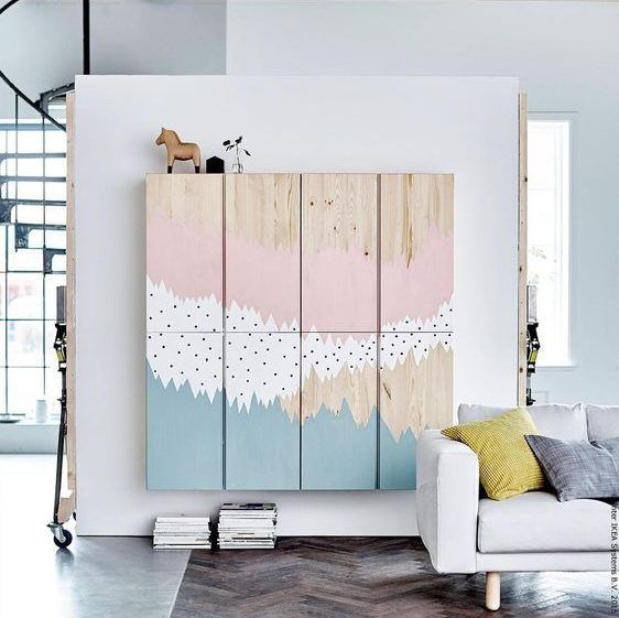 apply someartistic painting and noone would know if it is a picture or a wardrobe