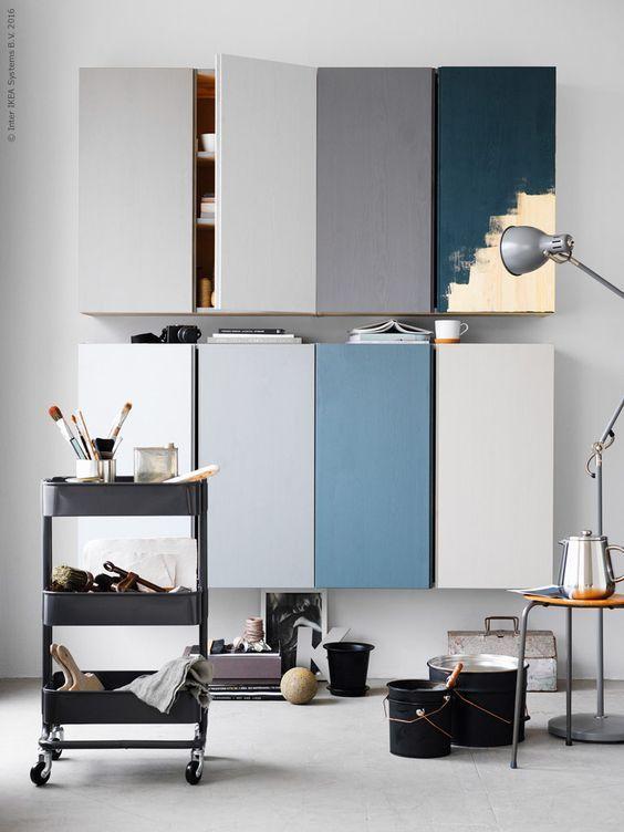 blue painting to hack ikea ivar furniture