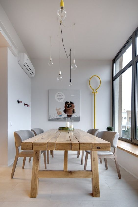 Combinar sillas - modern chairs with a rustic table