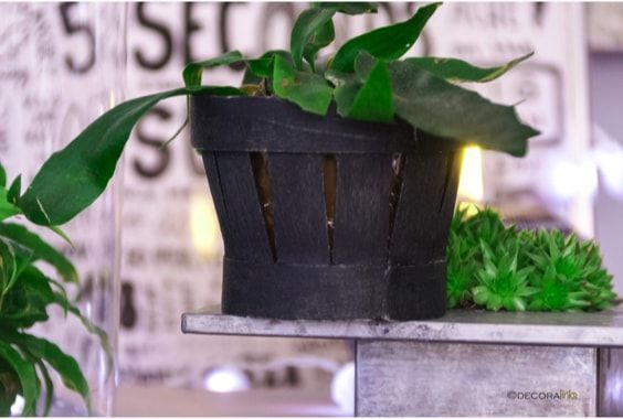 diy by WhenDesignWorks, using a cherries little basket and chalk paint