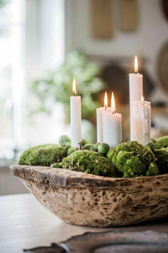 Plantas de navidad - musgo y coles de bruselas