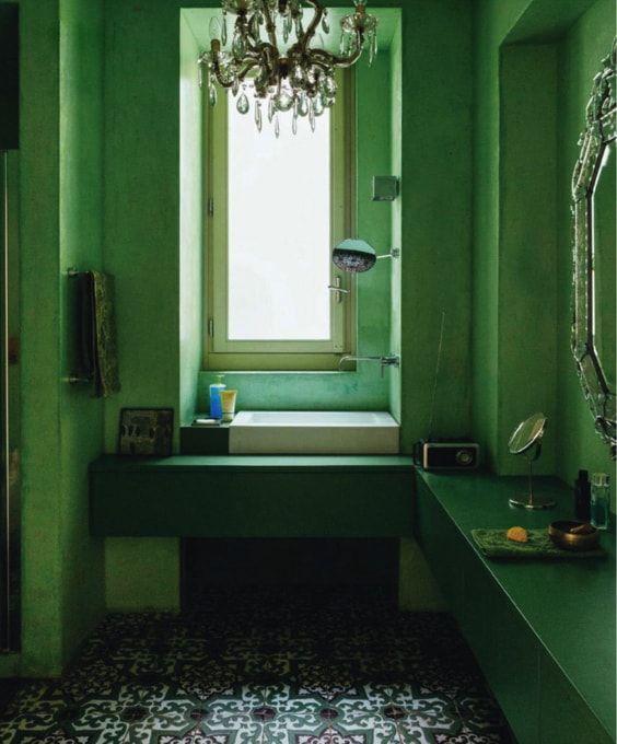 bathroom - zona de tocador y lavabo separadas