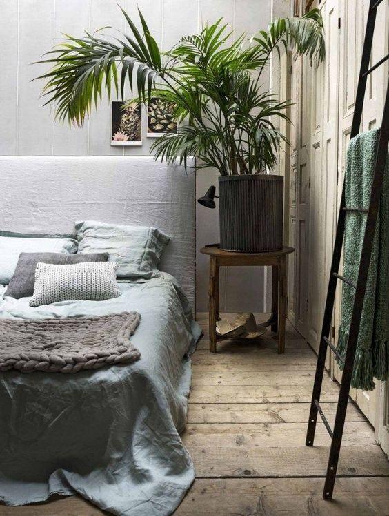Tendencia verde sage en sabanas lino
