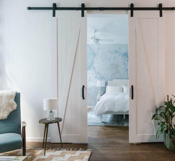 mural de marmol en dormitorio