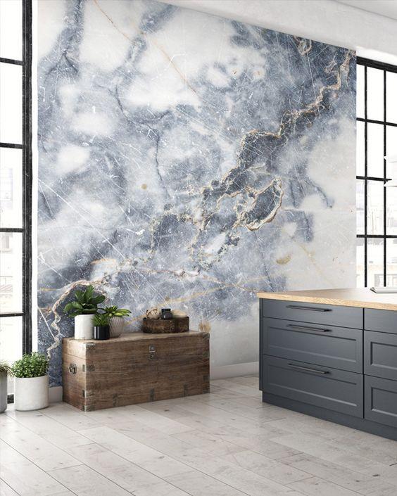 Mural de marmol - White Marble de WallSAuce