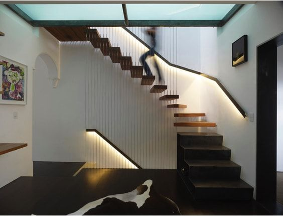 escaleras de adosado, cables de suelo a techo