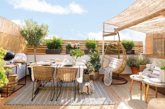 decoralinks| sistemas para ocultar terraza - mimbre
