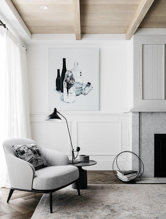 crea tu propio estilo decorativo - molduras y marmol vs madera natural