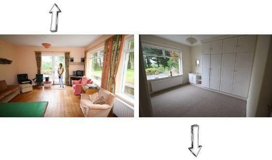 antes y despues de una casa irlandesa - dormitorios
