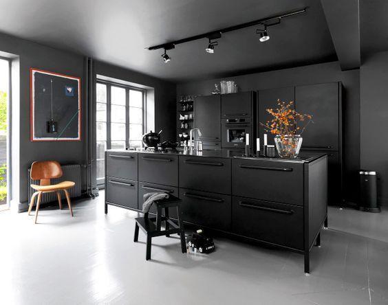 decoralinks | cocinas negras estilo nordico