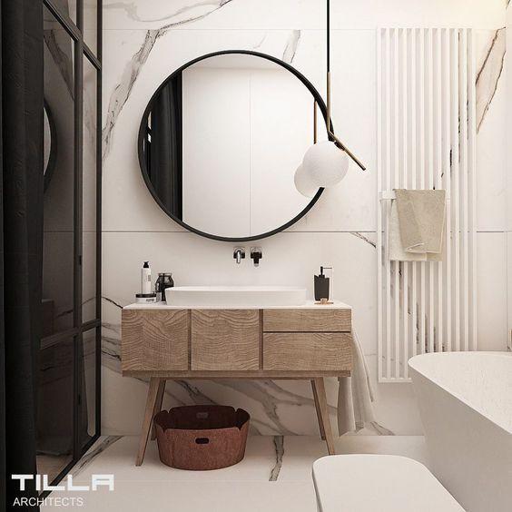 decoralinks | how to make your bathroom look bigger - muebles estilo retro