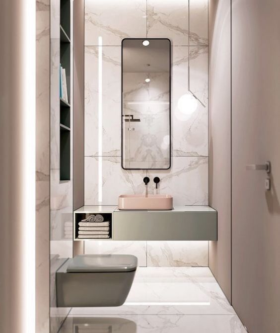 decoralinks | how to make your bathroom look bigger - tonos pastel