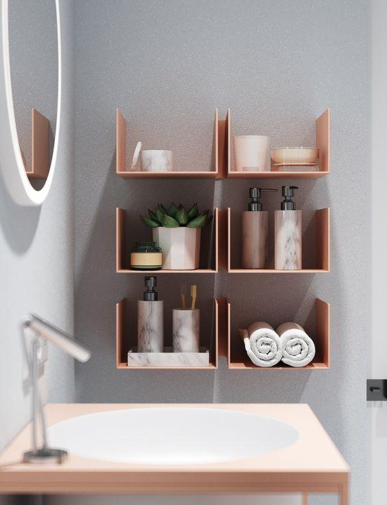 decoralinks | estanterias metalicas rosas - bathroom