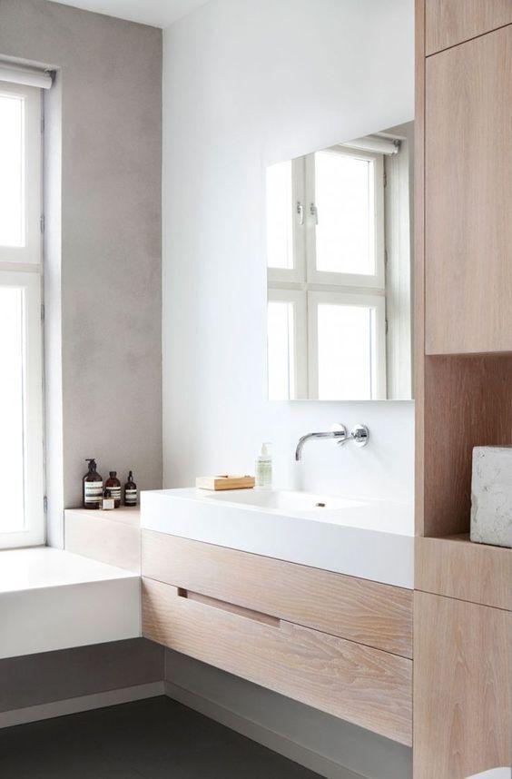 decoralinks | ampliar el baño usando muebles cerrados