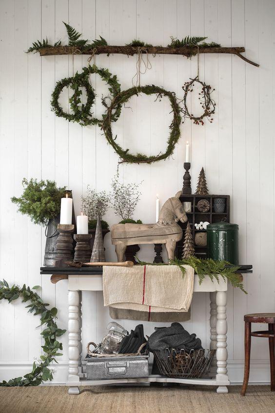 decoralinks | Navidad en verde - coronas de adviento estilo rustico