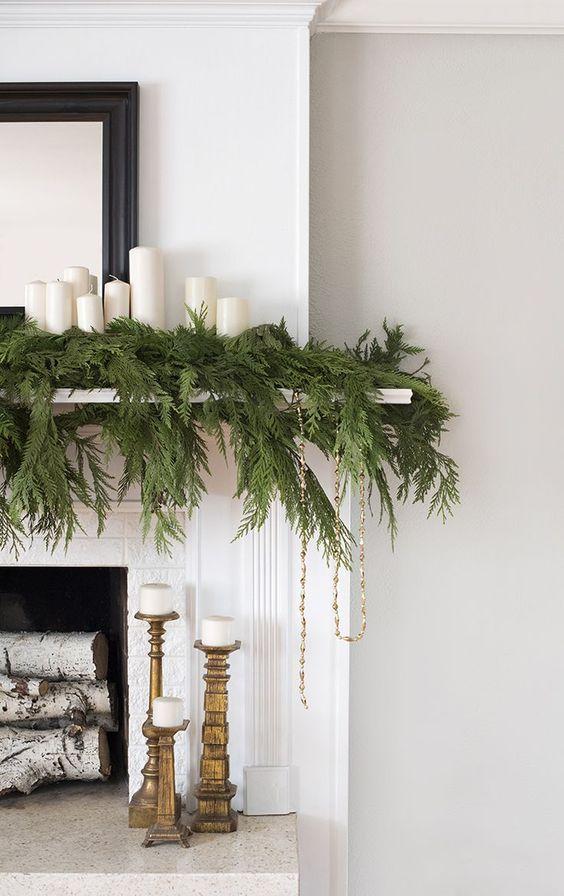 decoralinks | Navidad en verde - ramas de abeto para la chimenea