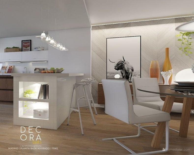 decoralinks | reforma de adosado en Madrid - cocina/comedor