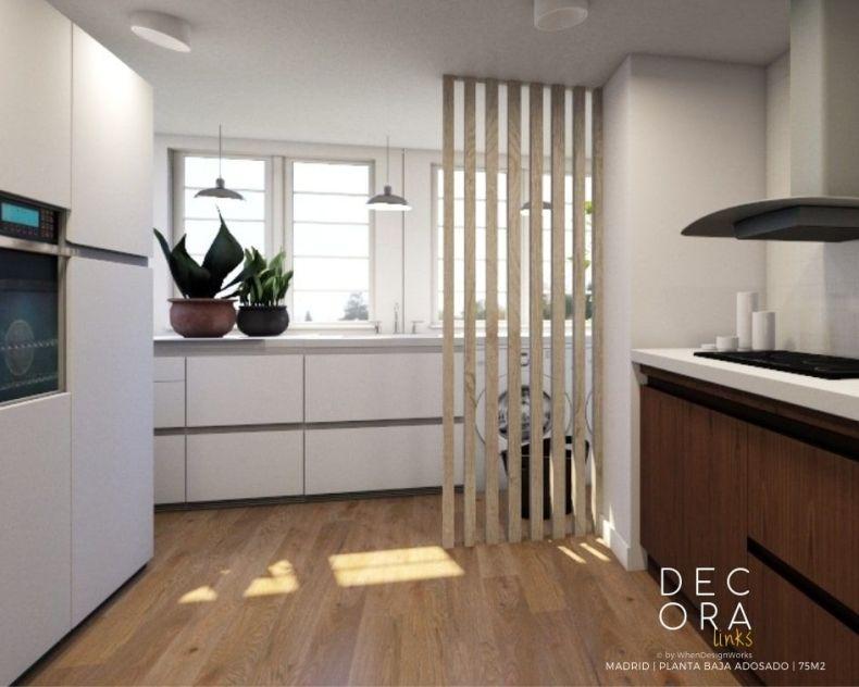 decoralinks | reforma de adosado en Madrid - cocina/lavadero