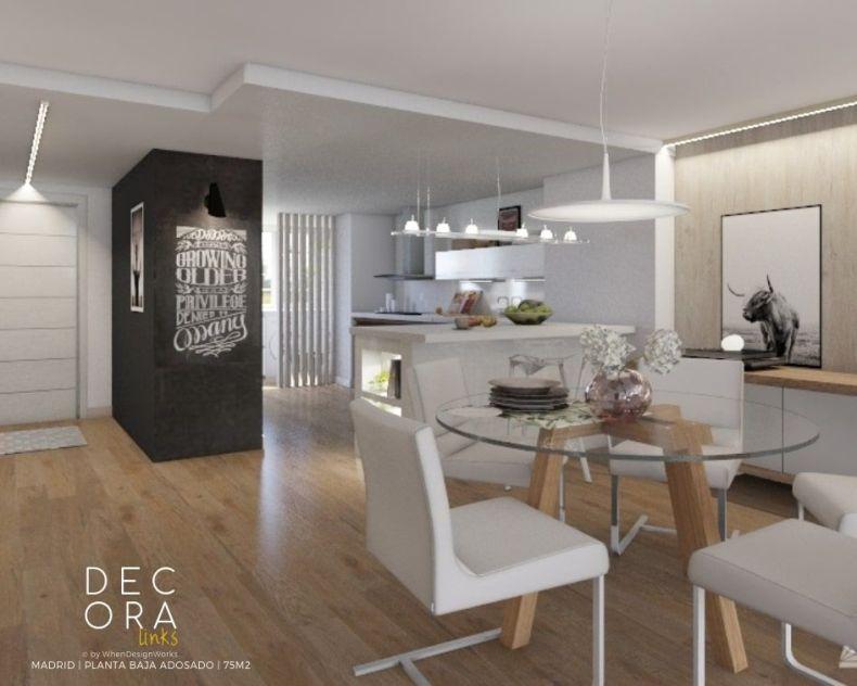 decoralinks | reforma de adosado en Madrid -comedor