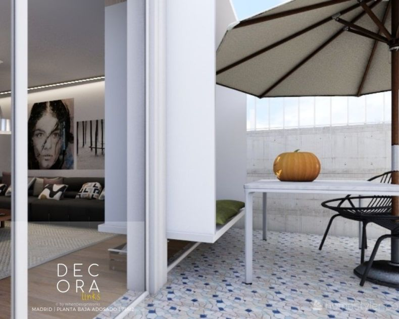 decoralinks | reforma de adosado en Madrid - terraza