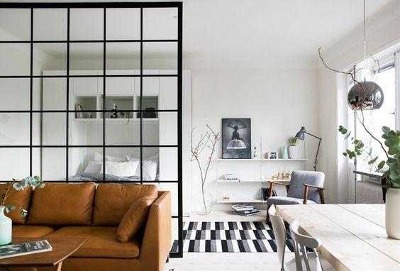 decoralinks | separar ambientes con panel de crittall
